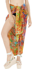 "Load image into Gallery viewer, LA LEELA Bathing Suit Wrap Women Sarong Bikini Cover up Printed 78""X43"" Orange_4404"