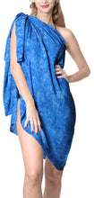 Load image into Gallery viewer, la-leela-hawaiian-beach-beach-dress-sarong-printed-78x43-royal-blue_4406