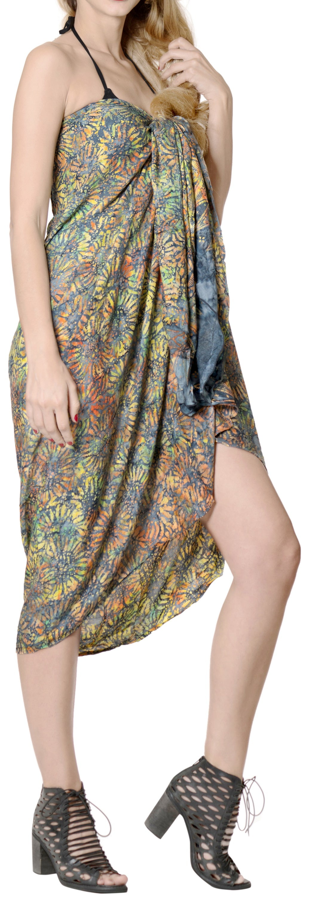 LA LEELA Women Wrap Bathing Suit Sarong Printed 78