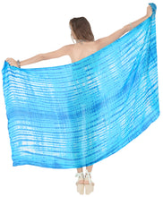 Load image into Gallery viewer, la-leela-swim-beach-dress-sarong-bikini-cover-up-tie-dye-78x43-turquoise_4437