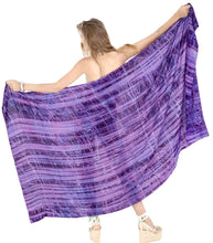 Load image into Gallery viewer, la-leela-bathing-suit-cover-up-sarong-bikini-cover-up-tie-dye-78x43-purple_4445