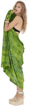 Load image into Gallery viewer, la-leela-wrap-pareo-swimsuit-women-sarong-bikini-cover-up-tie-dye-78x43-green_4447