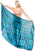 Load image into Gallery viewer, la-leela-swimwear-towel-women-wrap-sarong-bikini-cover-up-tie-dye-78x43-blue_4450