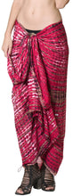 Load image into Gallery viewer, la-leela-aloha-bali-scarf-deal-beach-dress-sarong-tie-dye-78x43-red_4452