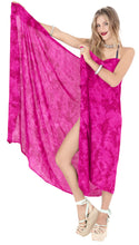 "Load image into Gallery viewer, LA LEELA Pareo Suit Women Beach Sarong Bikini Cover up Tie Dye 78""X43"" Pink_4462"