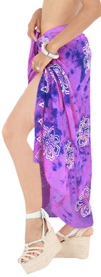 LA LEELA Rayon Women Wrap Swimsuit Cover Up Sarong Printed 78