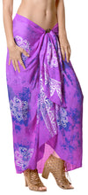 "Load image into Gallery viewer, LA LEELA Rayon Women Wrap Swimsuit Cover Up Sarong Printed 78""X43"" Purple_4470"