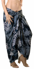 Load image into Gallery viewer, la-leela-rayon-scarf-deal-dress-bikini-wrap-sarong-printed-78x43-black_4471