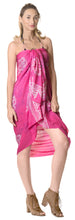 Load image into Gallery viewer, la-leela-rayon-hawaiian-women-wrap-suit-sarong-printed-78x43-dark-pink_4473