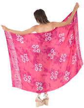 Load image into Gallery viewer, la-leela-cover-up-suit-bathing-sarong-bikini-cover-up-printed-78x43-dark-pink_6815