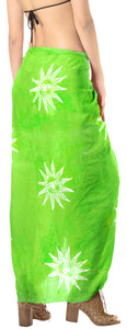 "La Leela Swimwear Rayon Bathing Towel Women Wrap Swimsuit Sarong Printed 78""X43"" Parrot Green_4479"