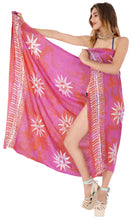 Load image into Gallery viewer, la-leela-rayon-beach-swimsuit-sarong-bikini-cover-up-printed-78x43-dark-pink_4480