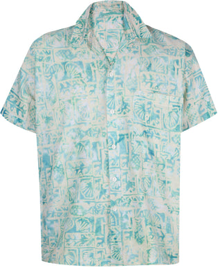 la-leela-men-casual-beachwaer-cotto-shortsleeve-hawaiian-men-shirt-for-aloha-tropical-beach-front-pocket-green
