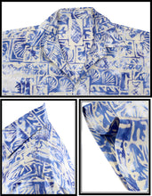 Load image into Gallery viewer, LA LEELA Men's Wear Summer collection Casual  Shirt 100 % cotton Printed Hawaiian Shirt Casual and Party wear Batik Shirt Blue
