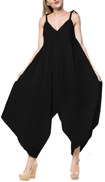 la-leela-rayon-solid-short-office-stretchy-jumpsuit-dress-osfm-14-16-black_3427