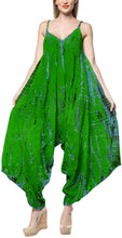 Load image into Gallery viewer, la-leela-tie-dye-womens-beach-beach-dresses-osfm-14-16-parrot-green_3467