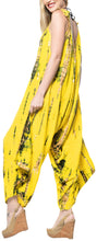 Load image into Gallery viewer, la-leela-tie-dye-beach-womens-beach-dress-wear-osfm-14-16-yellow_3468