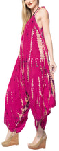Load image into Gallery viewer, la-leela-beach-dress-tie-dye-beach-wear-cruise-tube-halter-osfm-14-16-pink_3470