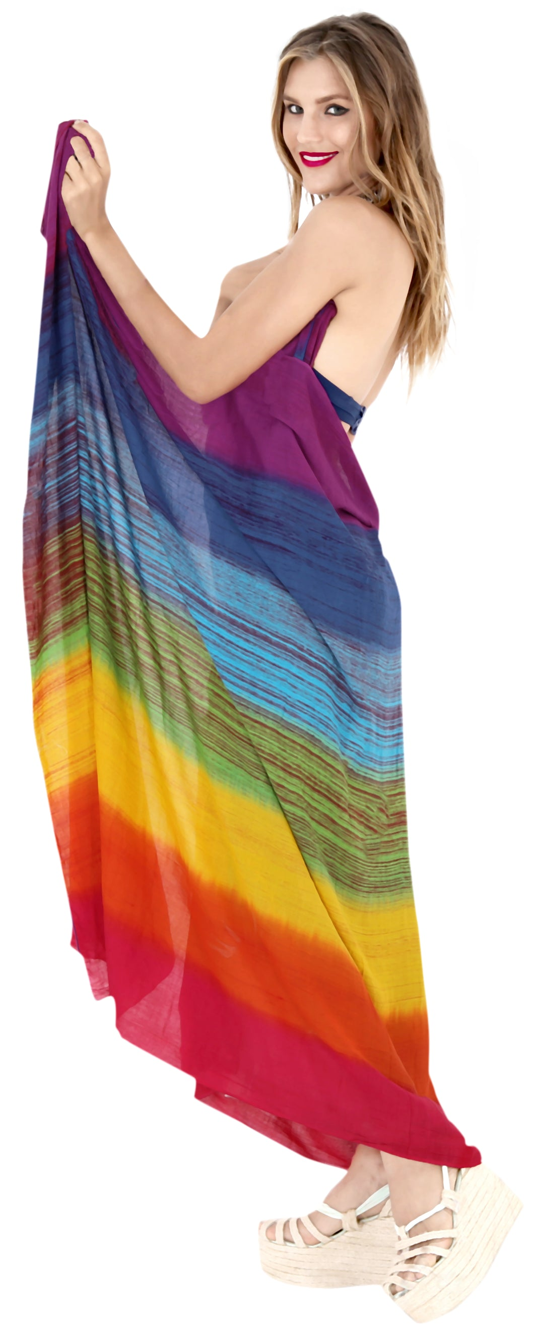 LA LEELA Cover Up Wrap Sarong Bikini Cover up Tie Dye 78