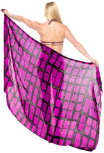 "Load image into Gallery viewer, LA LEELA Bathing Suit Cover Up Swim Sarong Bikini Cover up Tie Dye 78""X43"" Pink_4500"