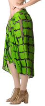 Load image into Gallery viewer, la-leela-rayon-swimsuit-cover-up-long-dress-sarong-tie-dye-78x43-green_4501