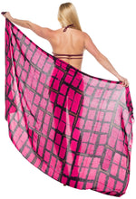 Load image into Gallery viewer, la-leela-womens-wrap-beach-swimwear-sarong-bikini-cover-up-tie-dye-78x43-red_4502
