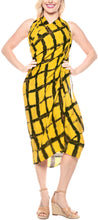 Load image into Gallery viewer, la-leela-wrap-pareo-swimsuit-sarong-bikini-cover-up-tie-dye-78x43-yellow_4503
