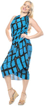 Load image into Gallery viewer, la-leela-rayon-tie-slit-long-pareo-women-sarong-tie-dye-78x43-turquoise_4504