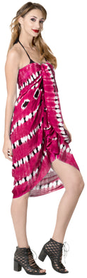 LA LEELA Cover Up Swim Wrap Pareo Beach Sarong Tie Dye 78