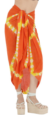 la-leela-wrap-pareo-suit-beach-sarong-bikini-cover-up-tie-dye-78x43-orange_4517