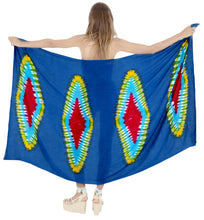 Load image into Gallery viewer, la-leela-resort-suit-pareo-sarong-bikini-cover-up-tie-dye-78x43-royal-blue_4521