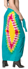 Load image into Gallery viewer, la-leela-cover-up-suit-womens-sarong-bikini-cover-up-tie-dye-78x43-sea-green_4524