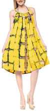 Load image into Gallery viewer, la-leela-beach-dress-tie-dye-vacation-womens-party-skirt-osfm-14-18-yellow_3477