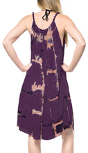 Load image into Gallery viewer, la-leela-rayon-tie-dye-prom-casual-beach-dresses-osfm-14-18-purple_3480