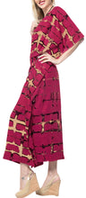 Load image into Gallery viewer, la-leela-rayon-tie_dye-caftan-hawaiian-beach-dress-red_1390-osfm-14-32w
