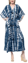 Load image into Gallery viewer, la-leela-rayon-tie_dye-caftan-beach-dress-women-blue_1368-osfm-14-32w