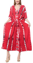 Load image into Gallery viewer, la-leela-rayon-tie_dye-caftan-beach-dress-summer-wear-red_1371-osfm-14-32w-l-5x