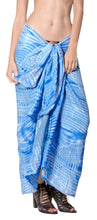 "Load image into Gallery viewer, LA LEELA Beach Cover Up Wrap Sarong Bikini Cover up Tie Dye 78""X43"" Royal Blue_4531"