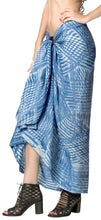 "Load image into Gallery viewer, LA LEELA Rayon Beach Swimsuit Sarong Bikini Cover up Tie Dye 78""X43"" Blue_4536"