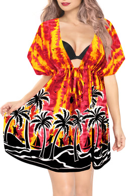 la-leela-bikni-swimwear-soft-fabric-printed-beachwear-loose-cover-up-OSFM 14-24W [L- 3X]-Blood Red_B937