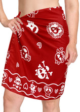 Load image into Gallery viewer, la-leela-likre-casual-resort-pareo-girl-wrap-sarong-printed-78x21-red_321