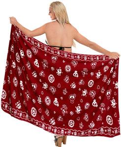 la-leela-soft-light-beach-long-swimsuit-girls-sarong-printed-88x39-red_2540