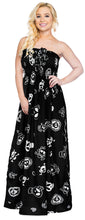 Load image into Gallery viewer, LA LEEL Beach Swimwear Soft Printed Cruise Vintage Vacation Tube Dress Women Black pirates And Skulls theme