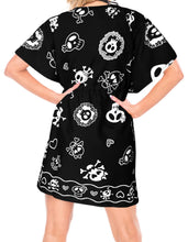 Load image into Gallery viewer, la-leela-halloween-pirate-fabric-swimsuit-cover-up-osfm-14-24-l-3x-black_1837-black_b807