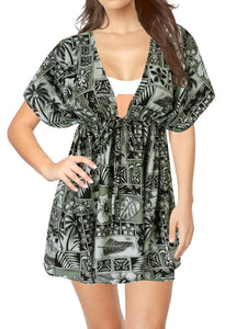 la-leela-bikni-swimwear-soft-fabric-printed-beachwear-loose-cover-up-OSFM 14-24W [L- 3X]-Halloween Black_B803