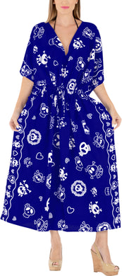 la-leela-likre-printed-Skull-long-caftan-dress-women-R_Blue-printed_Kaftan