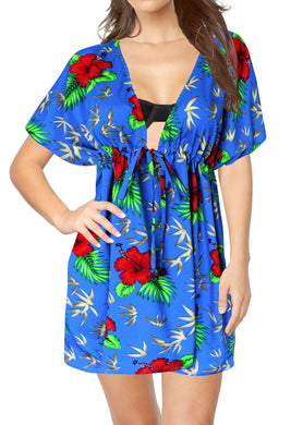 la-leela-bikni-swimwear-soft-fabric-printed-beachwear-loose-cover-up-OSFM 14-24W [L- 3X]-Blue_B781