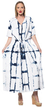 Load image into Gallery viewer, la-leela-rayon-tie_dye-caftan-beach-dress-swimwear-white_1408-osfm-14-32w-l-5x