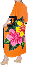 Load image into Gallery viewer, la-leela-lounge-rayon-printed-long-caftan-swimwear-girls-orange_1412-osfm-12-20w-l-2x