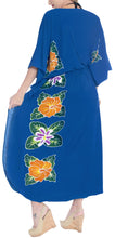 Load image into Gallery viewer, la-leela-lounge-rayon-printed-long-caftan-womens-royal-blue_1415-osfm-12-20w-l-2x